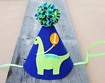 Boys 1st Birthday Party Hat - Dinosaur Birthday Hat