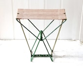 Vintage Folding Fishing Stool / Camping Gear, Beach Chair, Nautical Decor - tentvintage