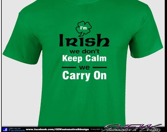 Handmade humor irish t shirt – Etsy