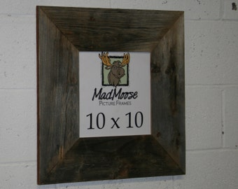 "10X10 BarnWood [Thin x 5""] Picture Frame"