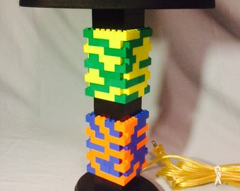 LEGO® Lamp - Black & Multicolored Rainbow