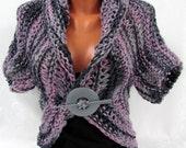 Bolero, Knitting Bolero, Sea Shrug Knit Bolero,  Sleeveless top, Hand Knit Boho Women's Fashion 2013 Bolero