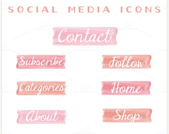 Pink Ombre - PNG Files - Navigation Icon Set