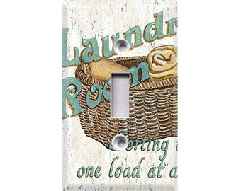 Laundry Room Style 2 Light Switch Cover