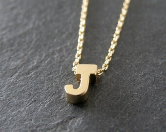 Letter j necklace etsy for Letter j bracelet
