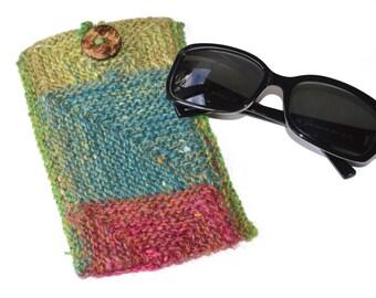 Modular Glasses Mitt Knitting Pattern pdf