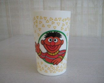Bert and Ernie Sesame Street Cup Muppets 1989 Vintage USA