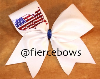 America Cheer Bow