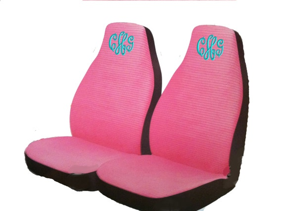 PINK Personalized Seat Covers By Unique2U2 On Etsy