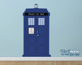 Doctor Who Tardis Police Call Box 2 - Vinyl Wall Decal by Wall Jems Wall Decals