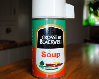 English 1970's Crosse and Blackwell soup flask