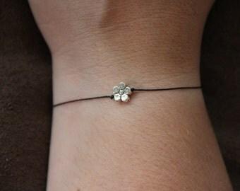 Shiney Silver Daisy Wish Bracelet