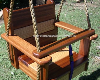 Wood Tree Swing- Oakipele Kids Seat Swing