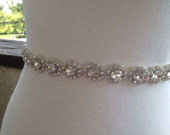 Free Gift ,Silver Wedding Belt Sash,Bridal Sash,Best seller sash ,Rhinestone Crystal Sash,Beaded sash,Silver Sash