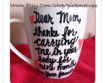 Dear Mom Mug- mother's day Mom you're way cooler than dad - Mother's Day mug family member coffee mug