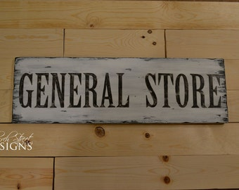 Farmhouse Decor - General Store Sign - Vintage Art