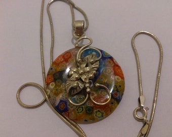 Vintage Murano glass and sterling silver