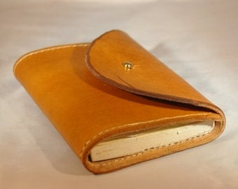 Leather Journal Cover with stud closure