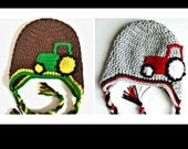 Tractor Hat with or without Earflaps