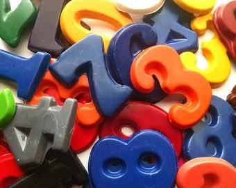 Number Crayons 0-9 - set of 10 crayons - kindergarten, pre-k, preschool, number recognition, homeschool, number party, number party favors