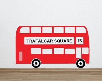 Personalised Bus Wall Sticker Decal