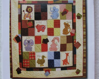 Easy Applique Baby Crib Toddler Animal Quilt Pattern