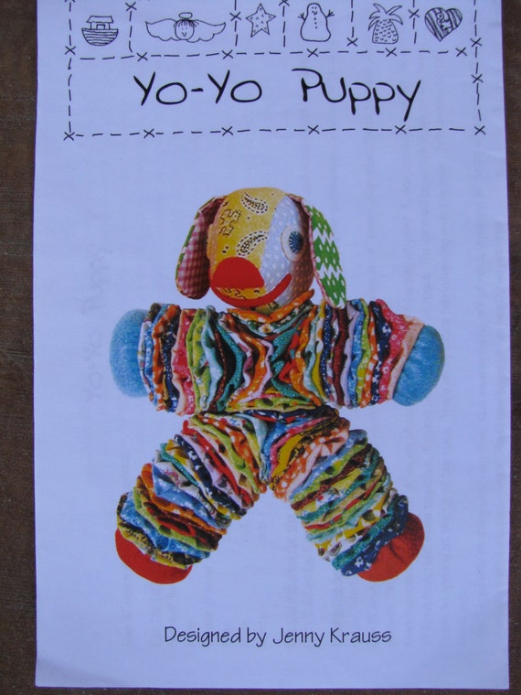 Yo yo puppy dog soft cloth doll toy sewing by for Yo yo patterns crafts