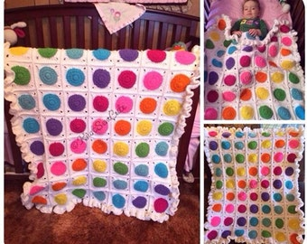PDF Candy Dots Crochet Afghan Pattern