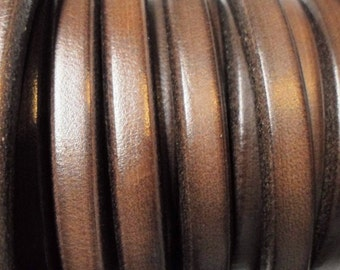 "Per 8"" Licorice Leather Chocolate Brown Cord, Bracelet finding, Jewelry making craft supplies, supplier,"