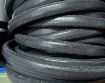 "8"" European Grey Licorice Leather 10x6mm,"