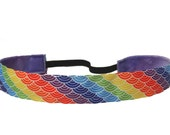 non slip headband Rainbow Waves