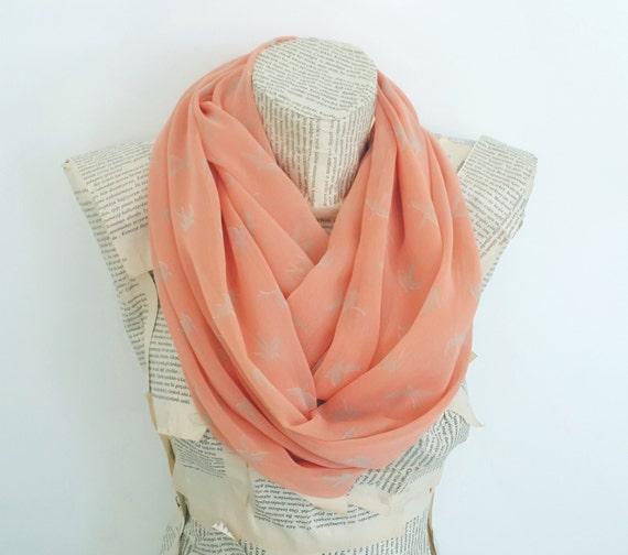 https://www.etsy.com/listing/179395379/peach-bird-print-peach-infinity-scarf