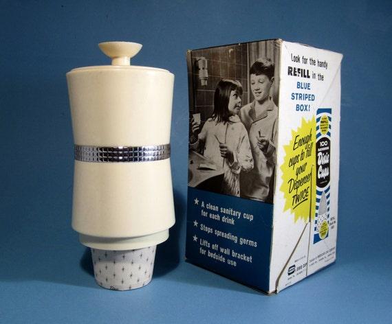 Vintage Mid Century Dixie Cup Dispenser By Pieintheskyvintage