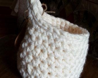Crochet Basket Pattern Hanging Crochet Basket Pattern, Home Decor, Storage Basket, Bathroom Organization, Small Crochet Basket