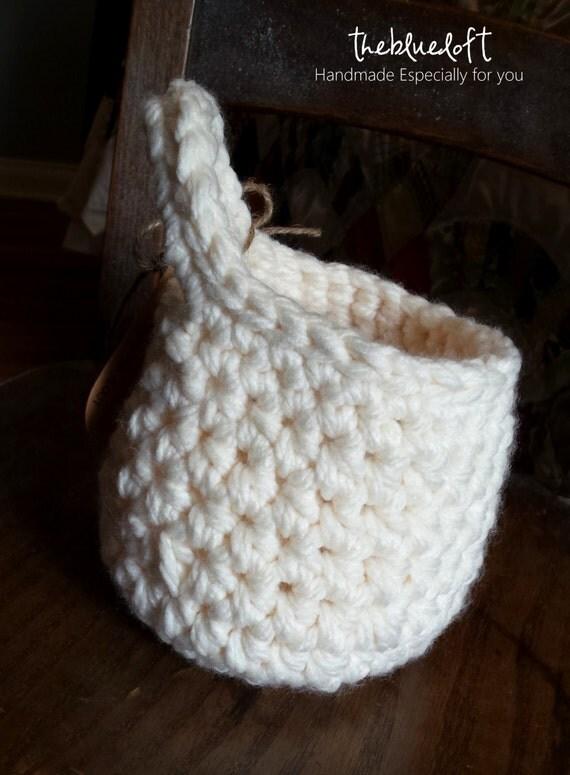 Free Crochet Flower Basket Pattern : Crochet basket pattern hanging home decor storage