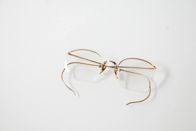 Old Gold Glasses Frames : antique eyeglasses gold frame glasses antique spectacles