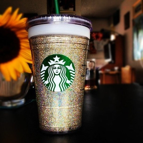 Starbucks glittered cup