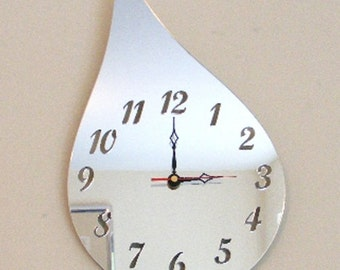 Raindrop Clock Mirror - 2 Sizes Available