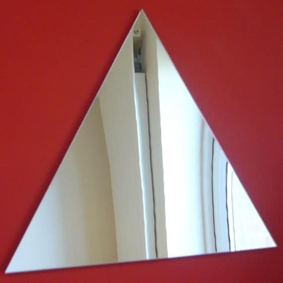 Miroirs en forme de triangle 5 tailles disponibles plus - Miroir incassable ikea ...