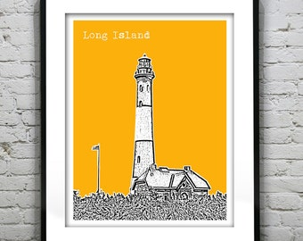 Long Island New York Poster New York Art Print NY Fire Island Lighthouse