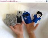Will NOT Ship for Easter Doctor finger puppet set