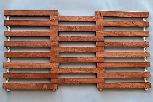 Reclaimed Wood RV Doormat Stained and Weather Sealed Wooden