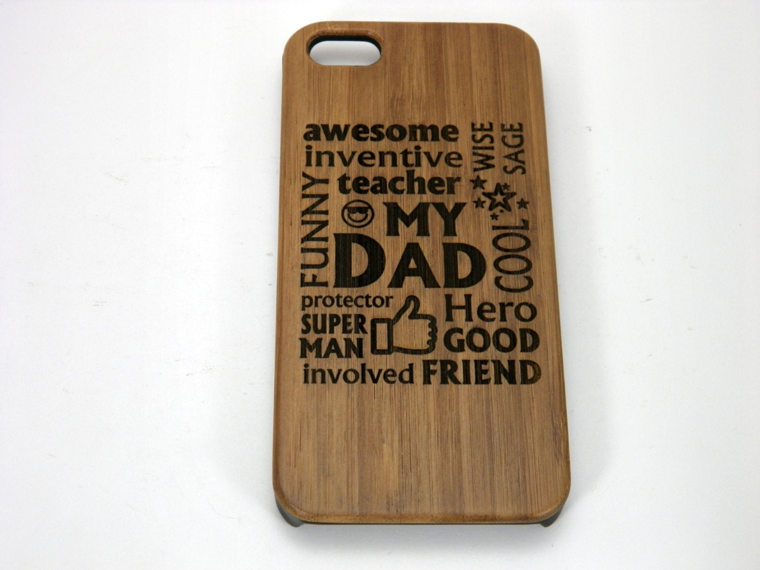 My Dad Iphone 7 Case Father Gift On Eco Friendly Bamboo Wood