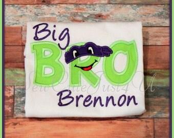 Big/ Lil Bro Ninja Turtle Personalized Shirt