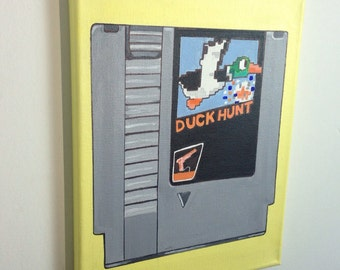 Duck Hunt NES - Hand Painted Painting