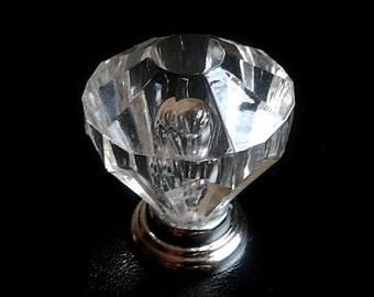Clear Crystal Glass Look Knobs / Dresser Knobs / Drawer Knobs Pulls Handles / Kitchen Cabinet Knobs Furniture Knob Pull Handle Hardware