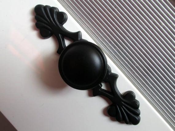 noir boutons de commode poign es bouton de tiroir poign es. Black Bedroom Furniture Sets. Home Design Ideas