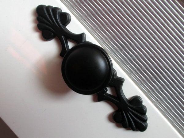 Black dresser knobs drawer knob pulls handles backplate - Dresser drawer pulls with backplate ...