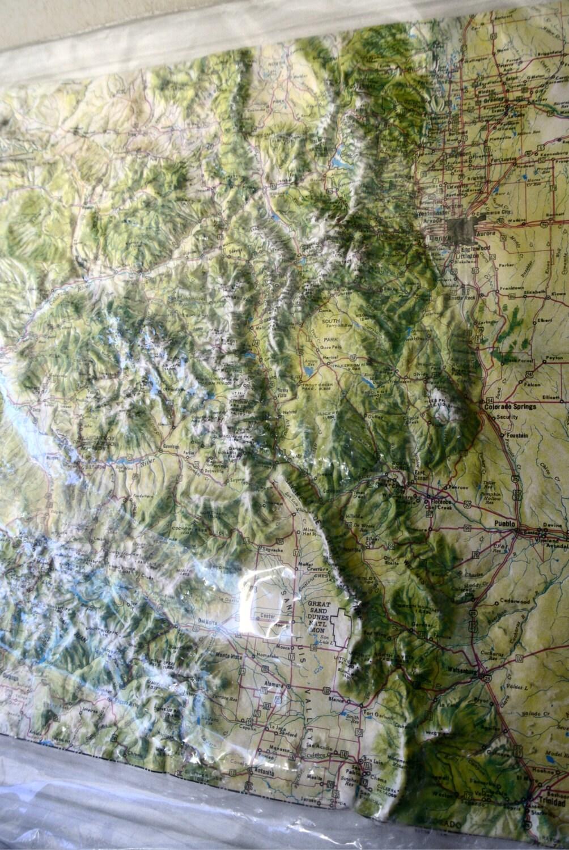 Vintage Kistler Graphics 3d Map Of Colorado Educational