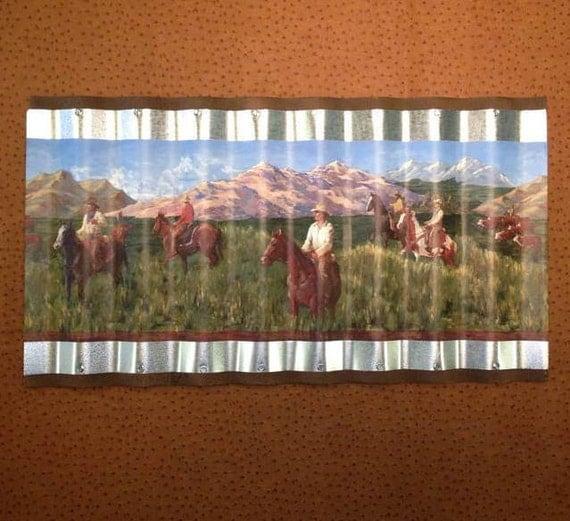 wiggle art metal western cowboy wallpaper border picture